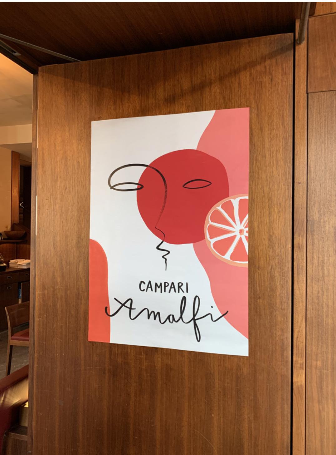 """Poster """"Campari Amalfi"""" A1"""