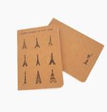 """Notizheft 2er-Set """"Eiffel Tower"""" & """"Hearts"""" A6"""
