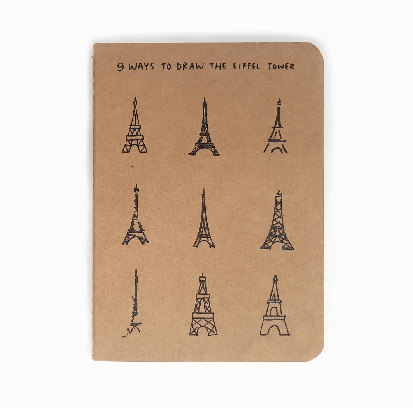 """Notizheft """"Eiffel Tower"""" A5"""