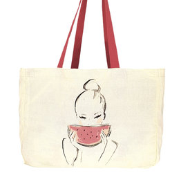 "Canvas Shopper ""Watermelon"""