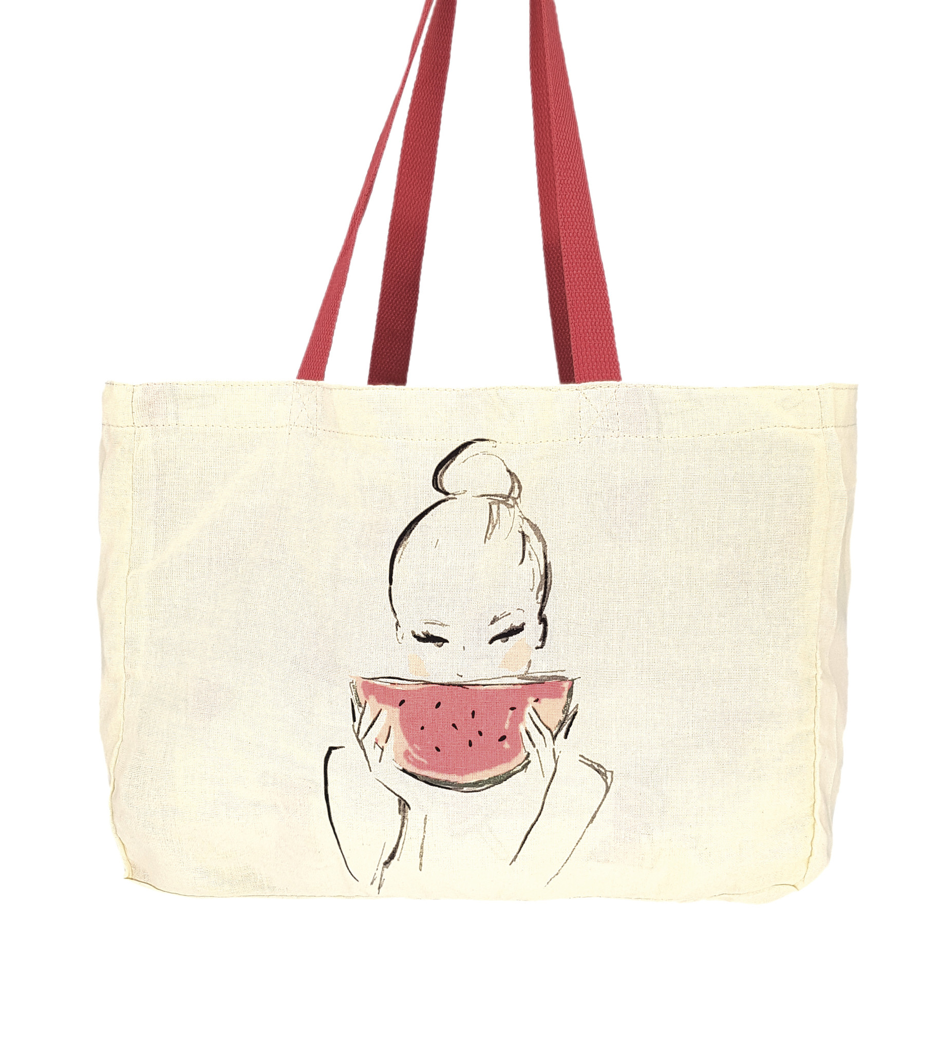 "Canvas Shopper ""Watermelon"""