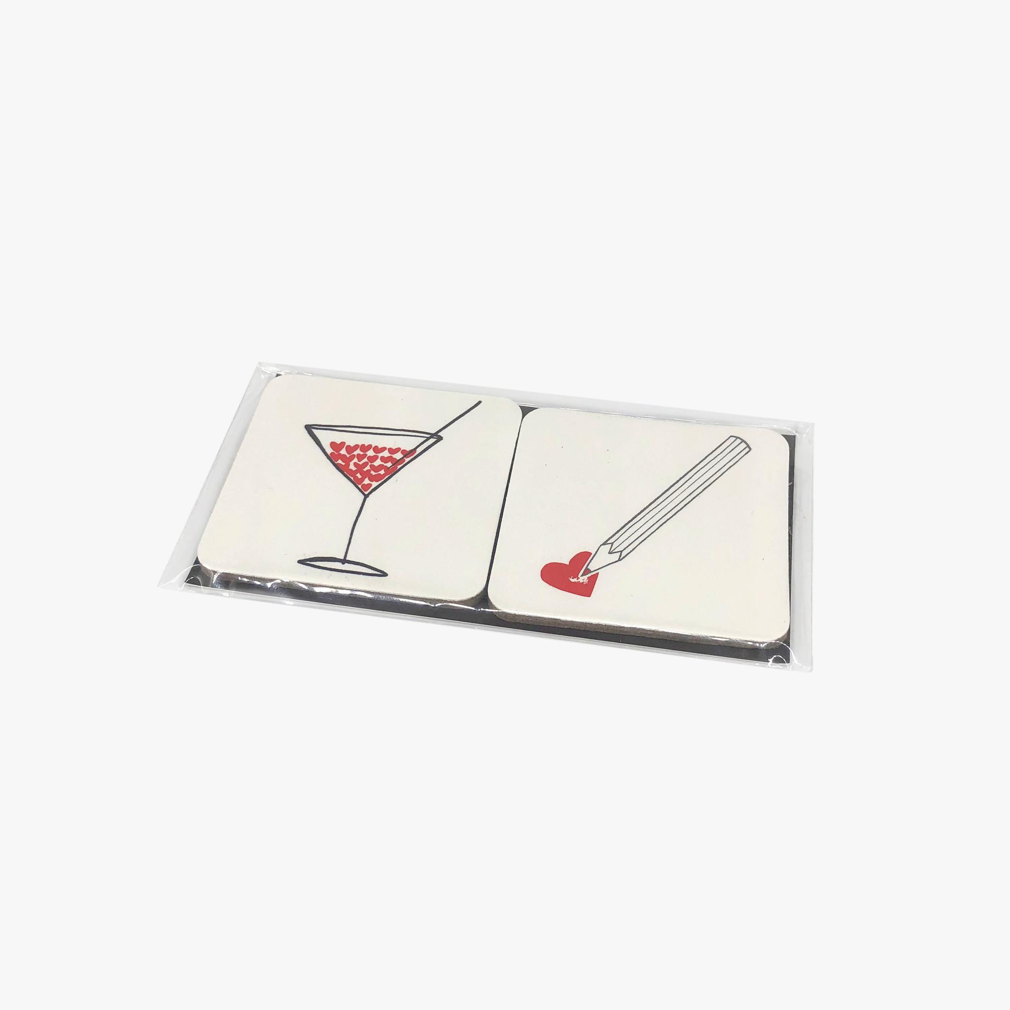 LES COEURS Magnet Set