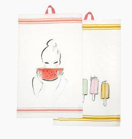 "Tea towel set ""Summer"""