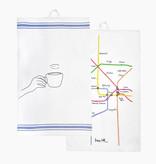 "Tea towel set ""Coffee at Home"""