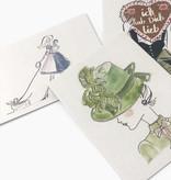 """Postkarten Set """"Dirndl"""" (3 x 2 Stück)"""