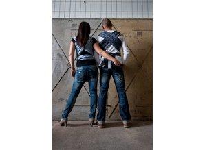 ByKay geweven denim dark jeans