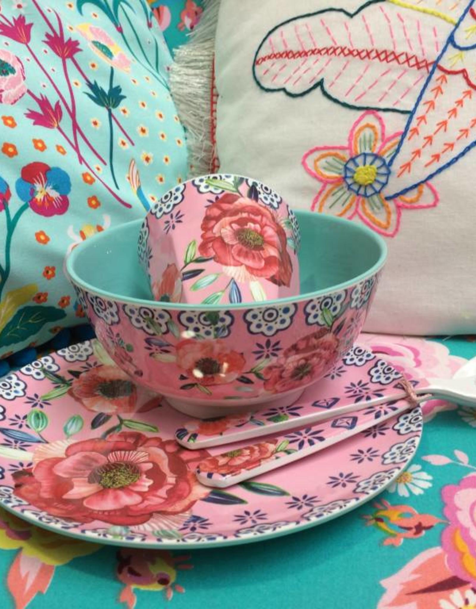 Ginger Cheerful flower melamine set - 5 delig