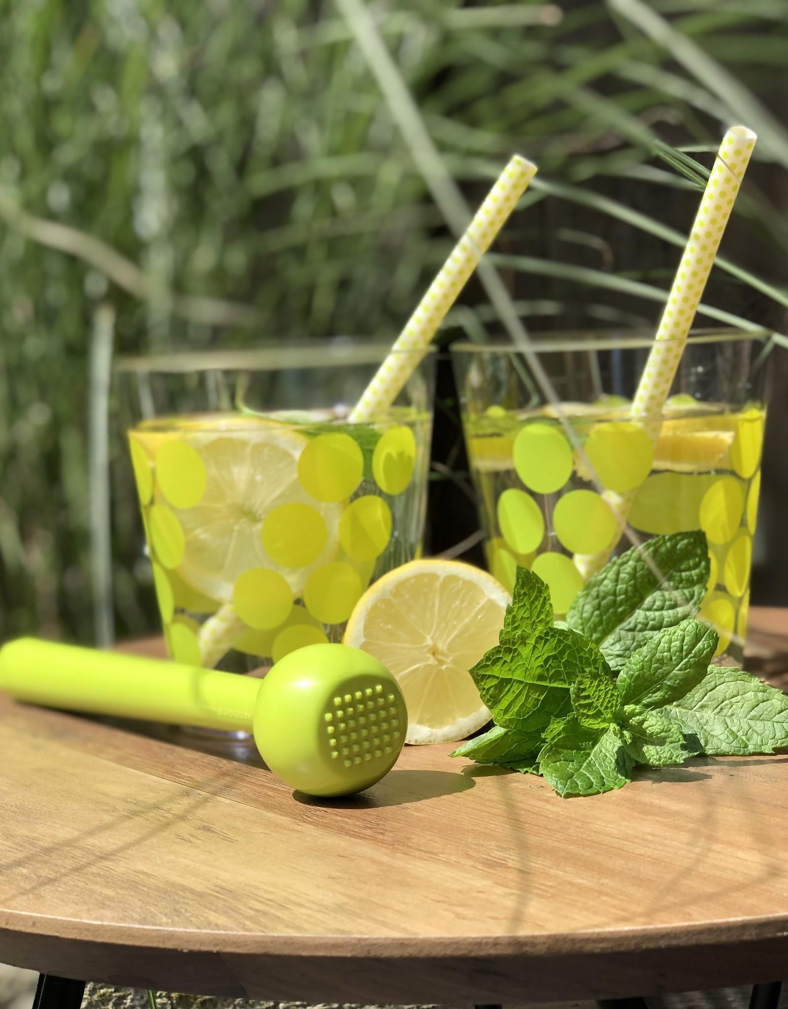 Zak! Designs  Dot dot - set van 2 water/cocktail  bekers - groen