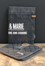 Linen & More Keukenschort en pannenlappen - 4 kleuren