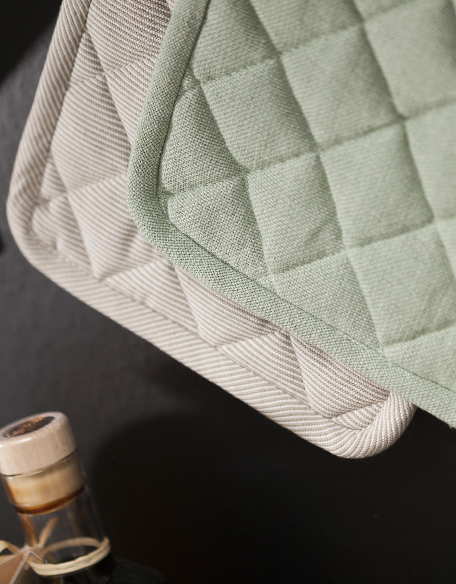 Linen & More Keukschort-set-licht groen