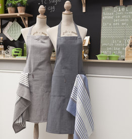 Linen & More Keukenschort-set 3 delig grey