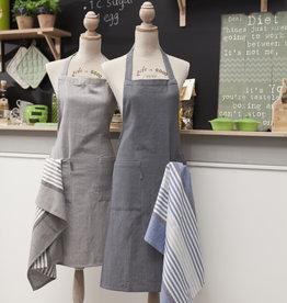 Linen & More Keukenschort-set- donker grijs
