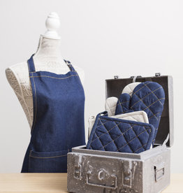 Linen & More Keukenschort -set-jeans
