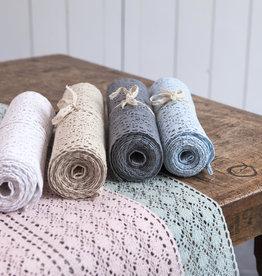 Linen & More Tafelloper kant in 4 kleuren.