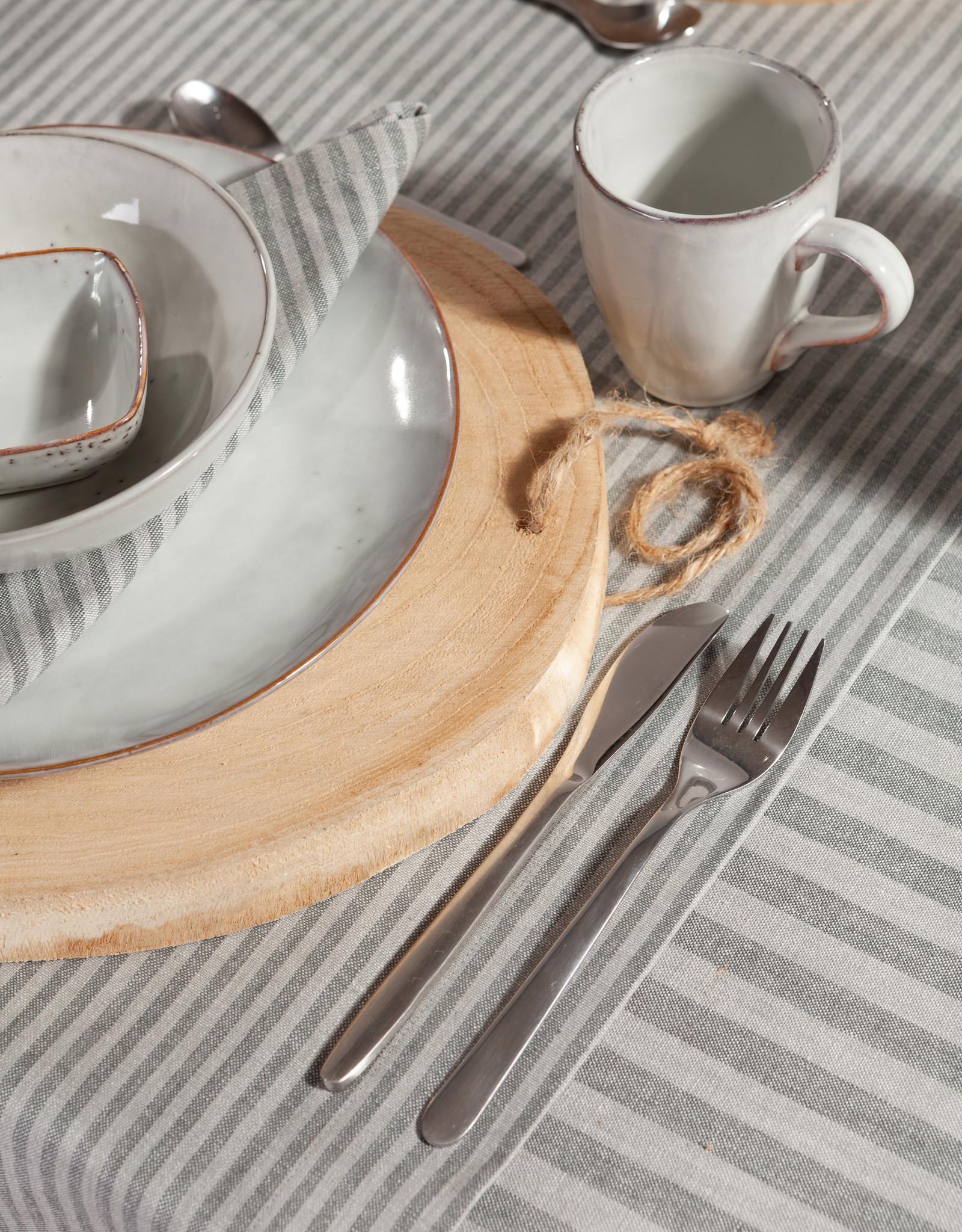 Linen & More Tafellaken 'linnen' Multi stripe