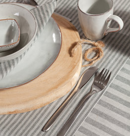 Linen & More Tafellaken 'linnen' Multi stripe grey