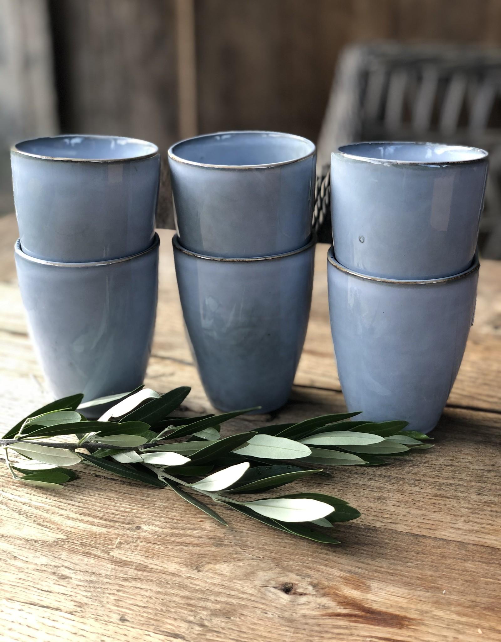 Lavandoux Beker- set van 6 large - Blauw