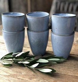 Lavandoux Beker -  set van 6  large  - Blauw