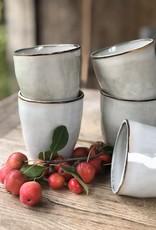 Cappuccinobeker set van 6 of 8 - grijs