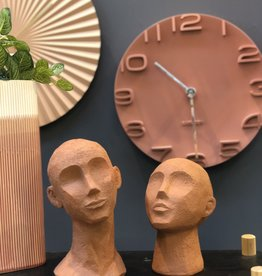 Present time Gezicht sculptuur/Face art up orange