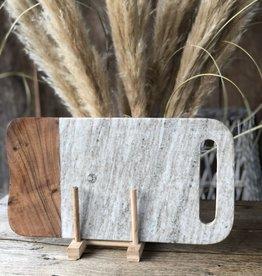 Broodplank marmer met hout