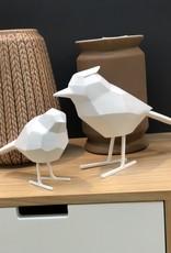 Present time Vogel origami set van 2 wit