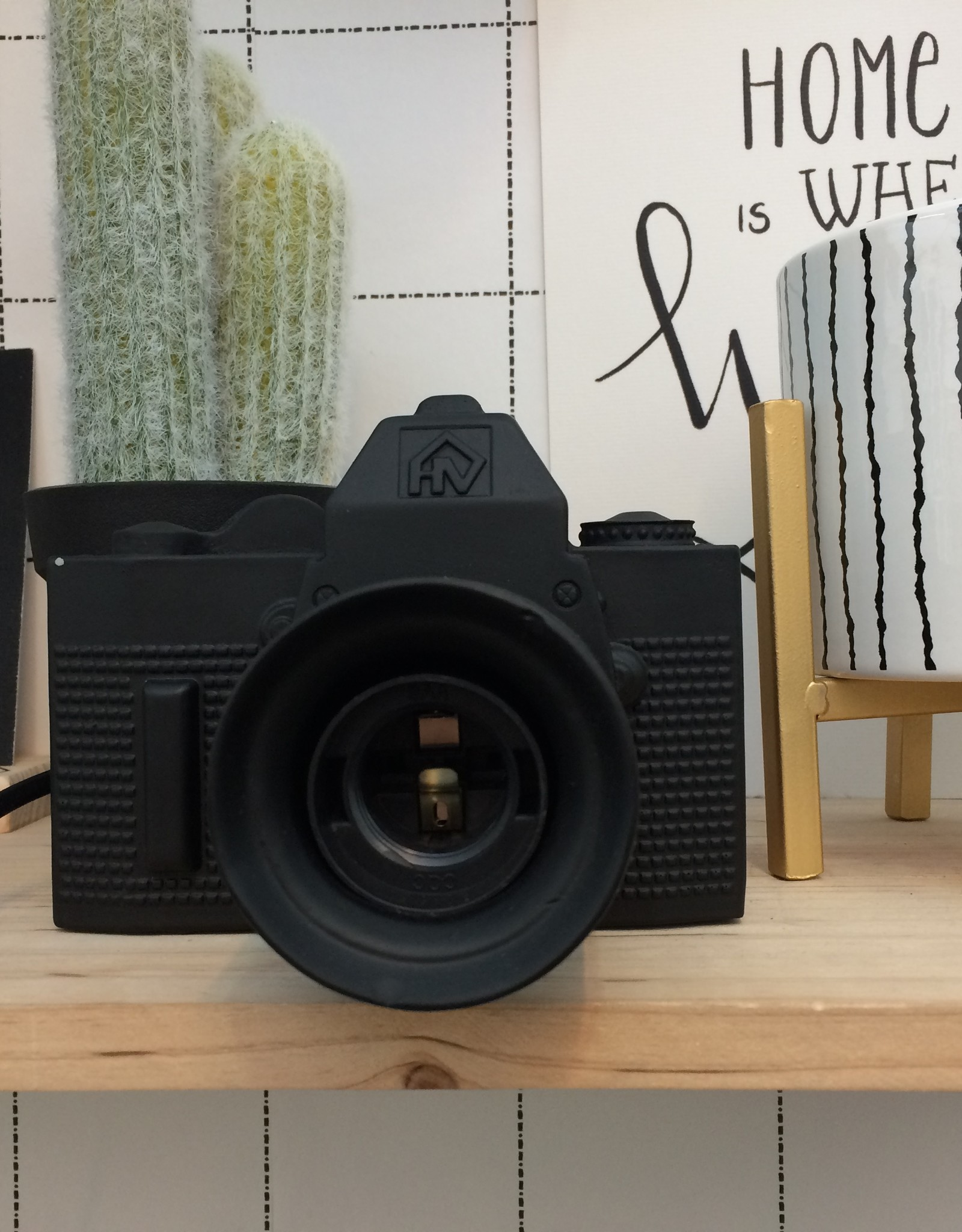 Housevitamin Camera / fototoestel lamp zwart