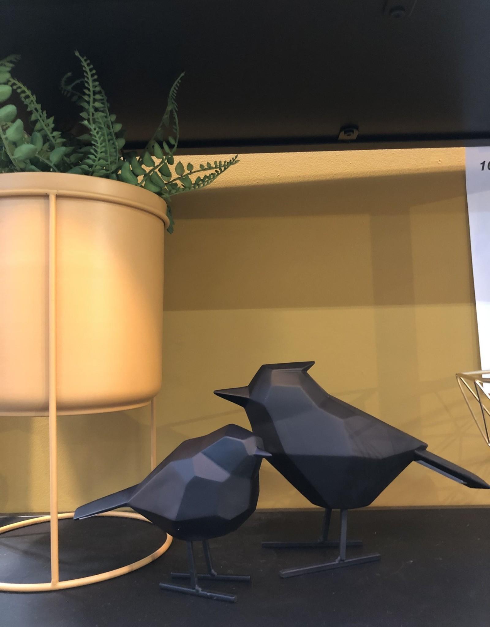 Present time Vogel origami set van 2  - Zwart