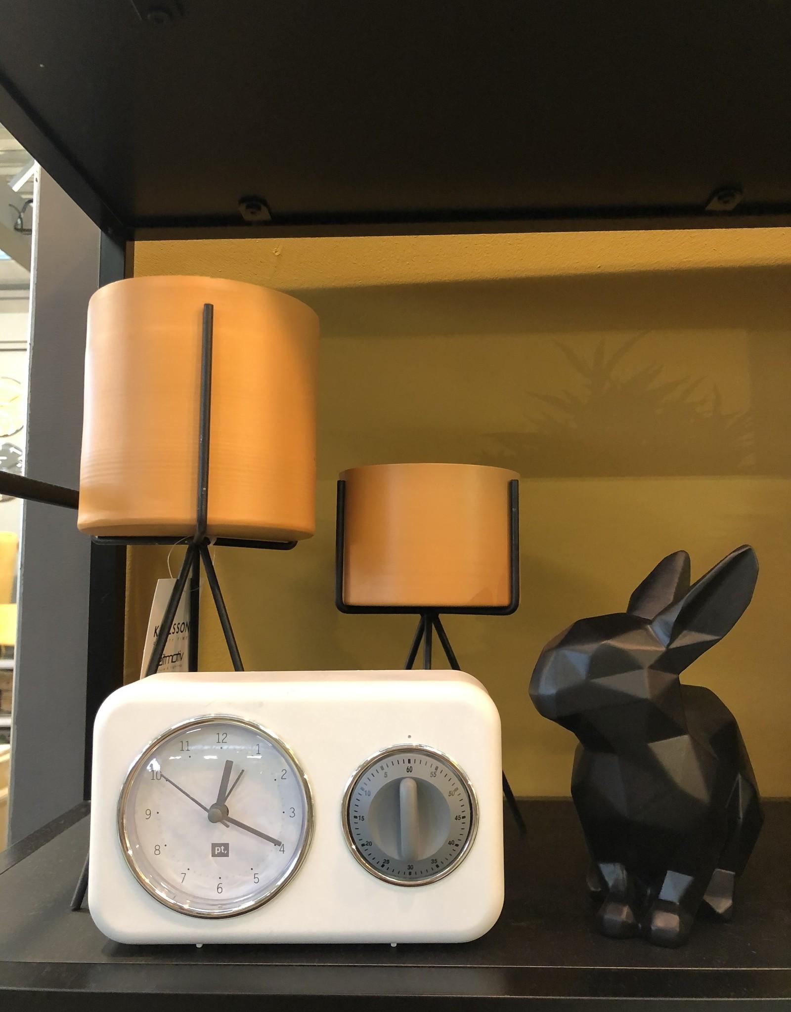 Present time Eierwekker/klok retro wit