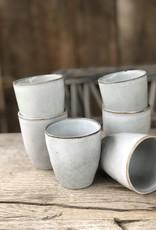 Lavandoux Cappuccinobeker set van 6 - grijs