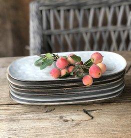 Lavandoux Dessertbordje ovaal grijs groen