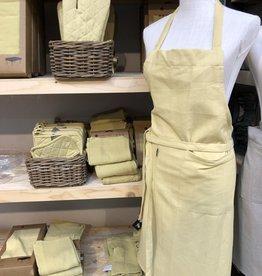 Linen & More Keukenschort-set-oker.