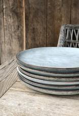 Lavandoux Ontbijtbord set van 6  - grijs