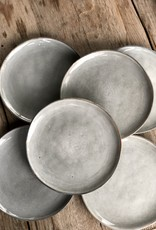 Lavandoux Ontbijtbord set van 6  - grijs groen