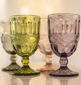 Solagne Rognana Water-of wijn glas  set van 6  -olijf