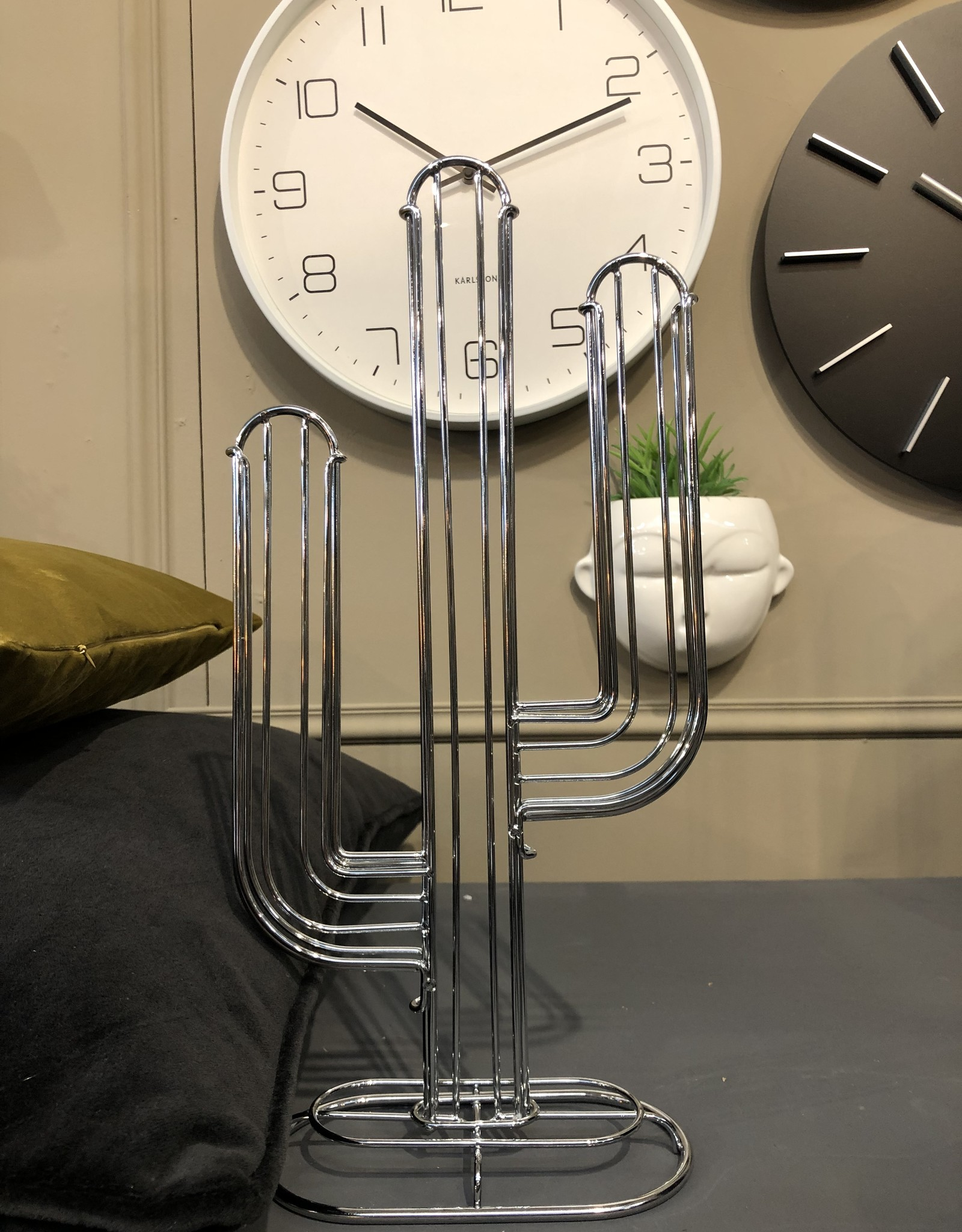 Present time Coffee cup holder cactus zilver
