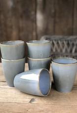 Lavandoux Beker set van 6 - blauw groen
