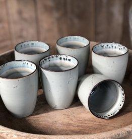 Lavandoux Beker set van 6 - grijs