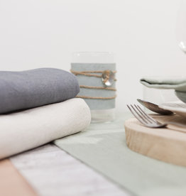 Linen & More Tafelkleed 'linnen'  grey