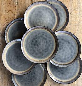 Lavandoux Ontbijtbord set van 6 of 8 - grijs