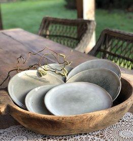 Lavandoux Ontbijtbord set van 8  - grijs groen