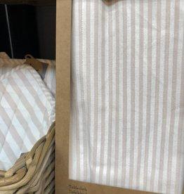 Linen & More Tafellaken 'linnen' Multi stripe - soft pink