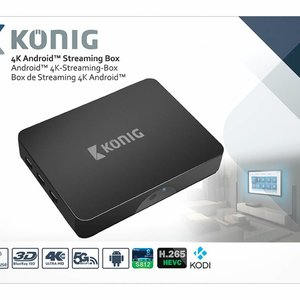 König König 4K Android Streaming Box met Fly Mouse