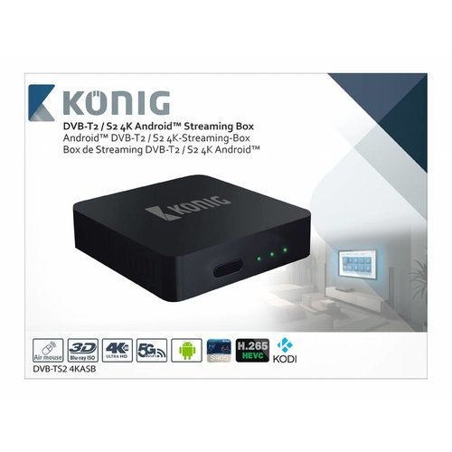 König König 4K DVB-T2 / DVB-S2 Android Streaming Box Fly Mouse