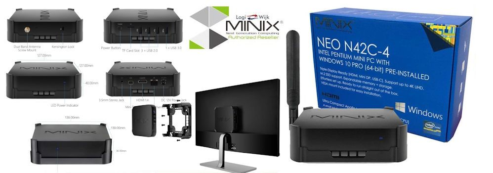 Minix Neo N42C-4 met Windows 10 PRO