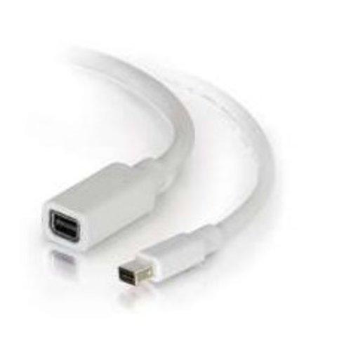 Cables To Go C2G 2.0m Mini DisplayPort M/F, 2 m, Mini DisplayPort, Mini DisplayPort, Mannelijk, Vrouwelijk, Wit
