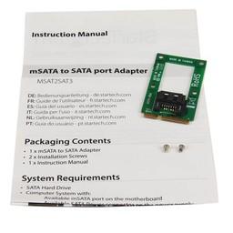 Startech StarTech.com mSATA-naar-SATA HDD / SSD-adapter Mini SATA-naar-SATA-converterkaart