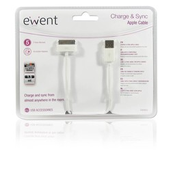 Eminent Ewent EW9903 mobiele telefoonkabel USB A Apple 30-p Wit 1,5 m
