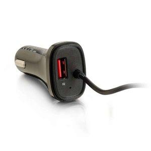 Cables To Go 4-poorts USB-autolader met verlengstuk voor passagiers, 5.8 A-uitgang