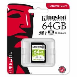 Kingston SDXC, 64GB, 80 MB/s, 10 MB/s